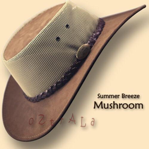 ■oZtrALa■ LEATHER Mesh JACARU Hat Cowboy Australian Mens Womens Akubra OUTBACK■■
