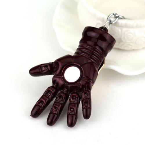 Iron Man Figur Marvel Comic Hand Schlüsselanhänger Anvengers Held Film Metall