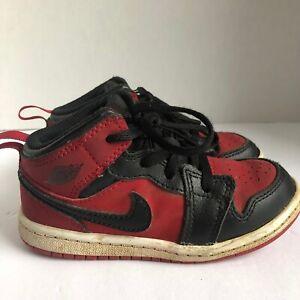 Jordan Retro 1 OG Bred Banned Black Red