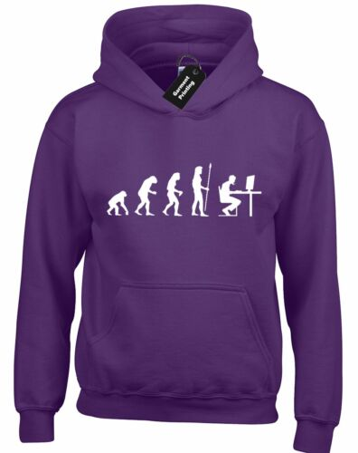 PC GAMER EVOLUTION HOODY HOODIE FUNNY GAMING XBOX PS4 COMPUTER GAMER GIFT