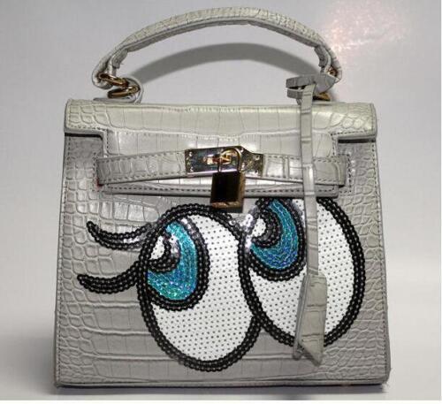 Bolso calientes de Totalizador compras individuales animados hombro dibujos Mujeres colores 13 de Bolsas grandes Ojos de 4RXqT