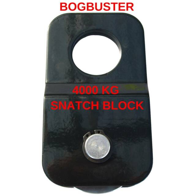 Bogbuster Snatch Block 4000 Kg Winch Rope Cable Pulley 4x4
