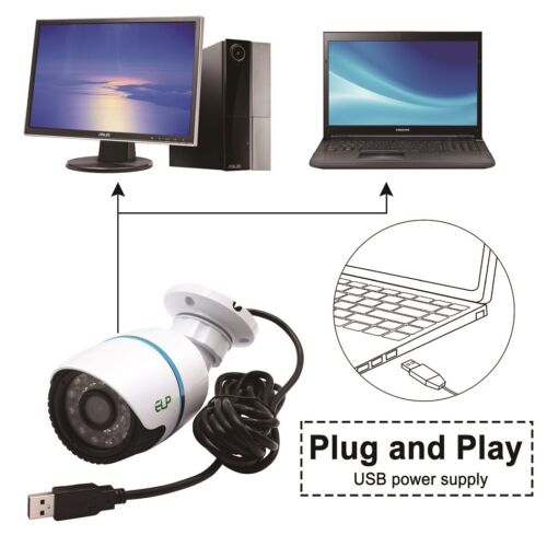 2MP H.264 30fps 1920*1080 IR USB Camera Sony IMX322 Security Video Bullet Camera
