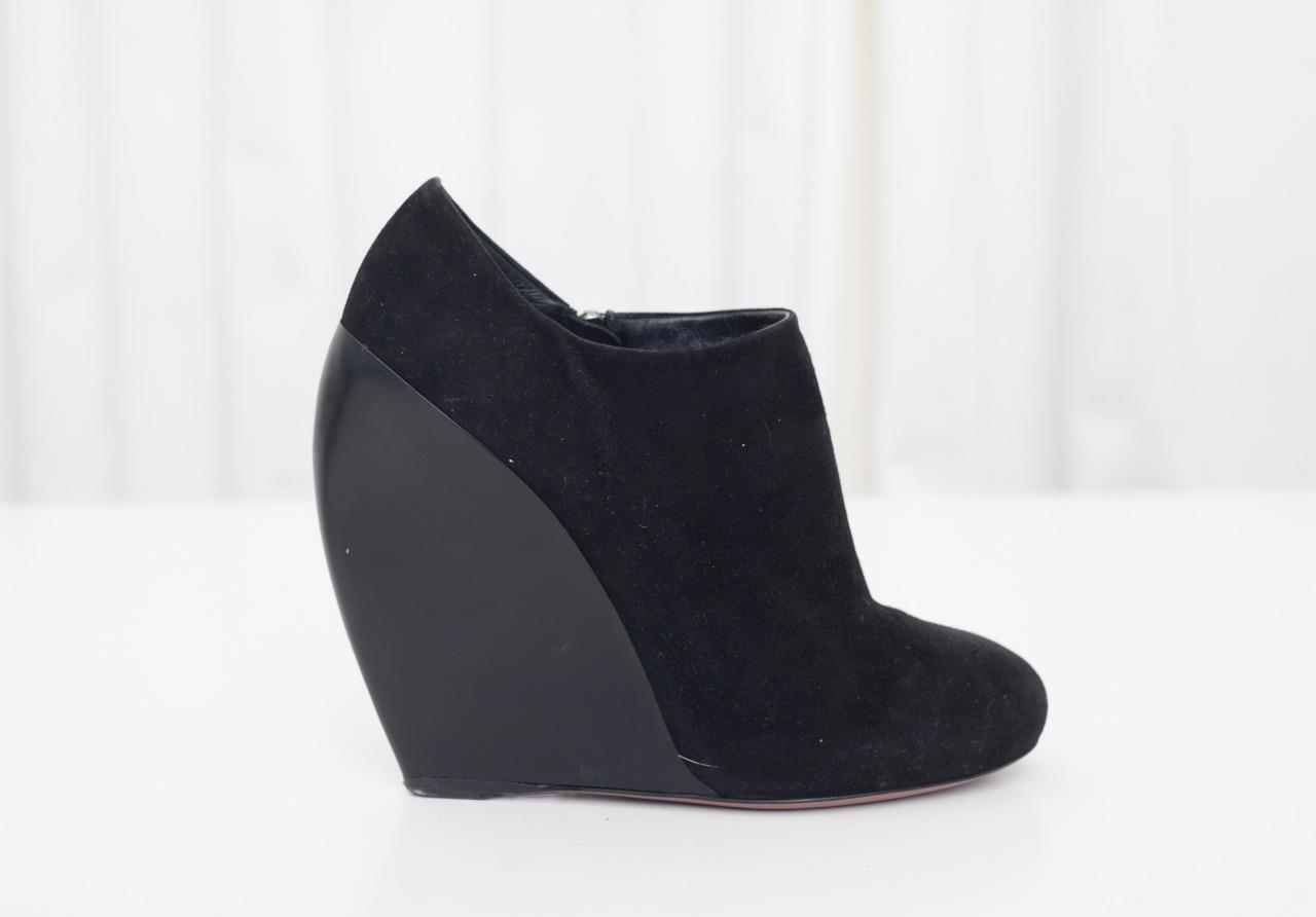comprare sconti ALAIA Donna  nero Suede Suede Suede Wedge High Heel Round-Toe Ankle avvioie avvio scarpe 7-37  fino al 60% di sconto