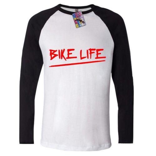 LONG SLEEVE T SHIRT bike life WHEELIE ride street konrad top tee cool unisex RED