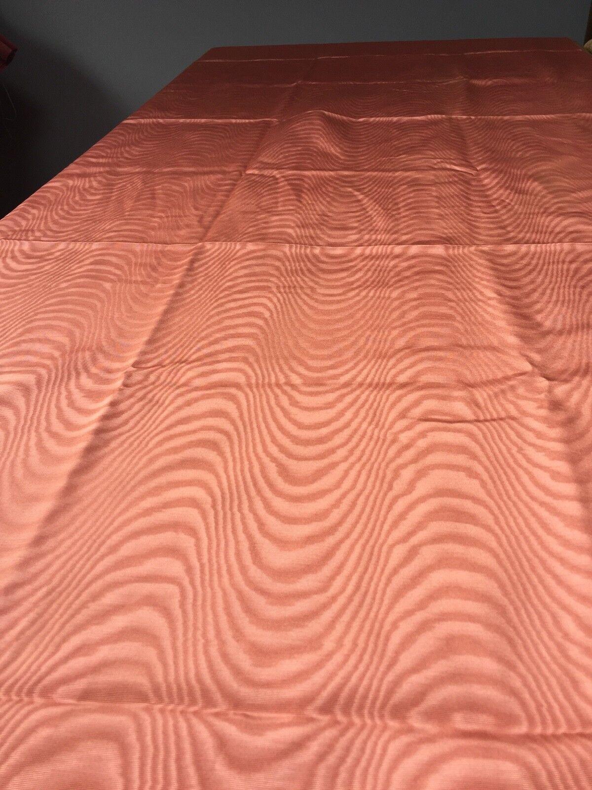 Vintage Peach saumon taffetas Nappe-long -118 cm x 390 Cm