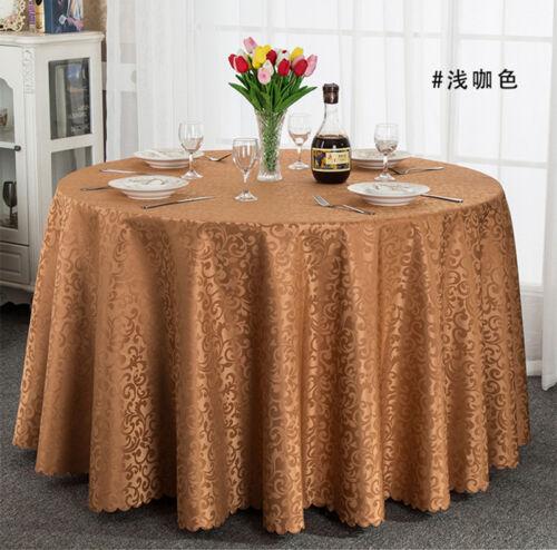 Round Square Rectangular Tablecloth Seamless For Wedding Restaurant Banquet TC01