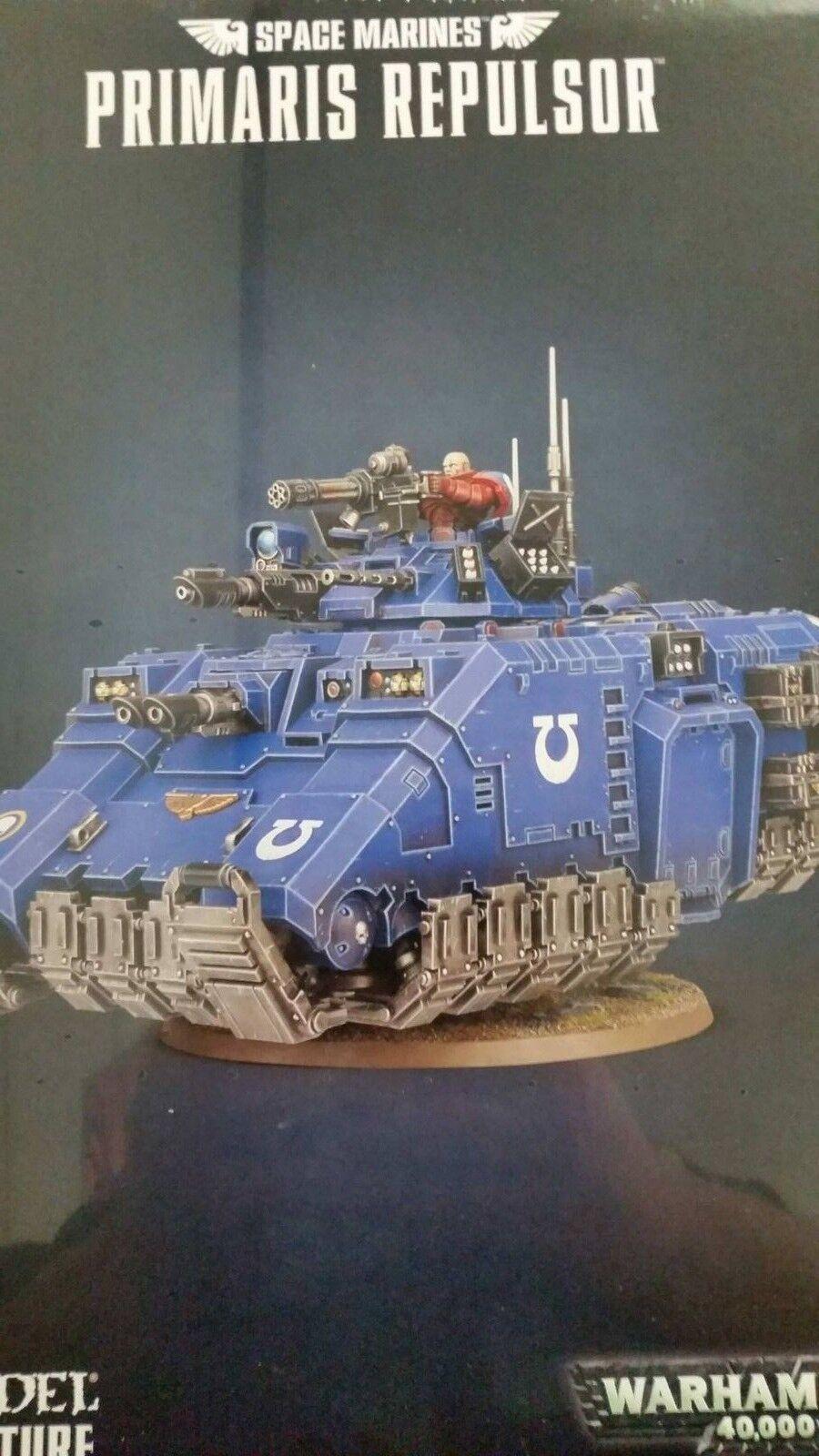 Warhammer 40K Adeptus Astartes marines espaciales Primaris Primaris Primaris Repulsor Visuel Tanque, nuevo  garantía de crédito