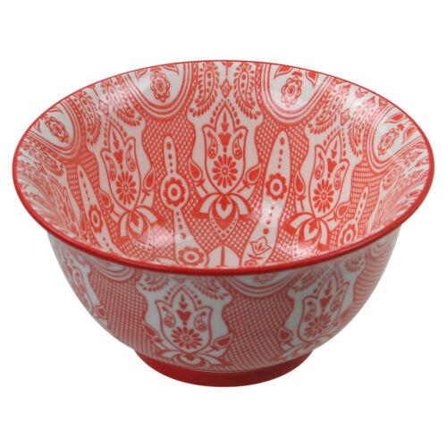 Oriental Rouge Porcelaine Cuisine Soupe Céréales salades Snacks Nourriture Bol vaisselle