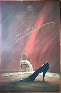 Sur Champagne Par Lithographie Affiche Marquis De Alterio Talon 1989 Détails Chaussure Sade LjS35c4RqA