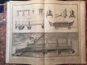 Enciclopedie-Diderot-1752-1770-Charpenterie-Carpenteria-navale-51-tavole-NAVI