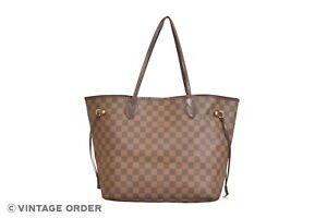 Louis Vuitton Damier Ebene Neverfull MM Tote Shoulder Bag N51105 - YH00157