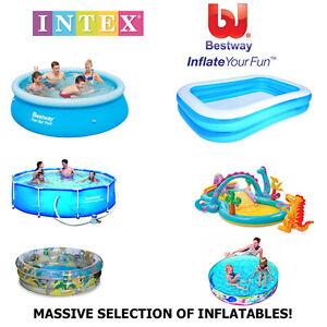 Bestway intex swimming paddling pool play centres summer for Piscina rigida rectangular