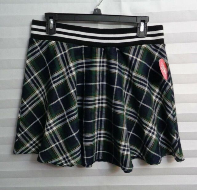 21febdcf1 Univofcool Green Plaid Skater Skirt Women's Jr's Size Large NWT | eBay