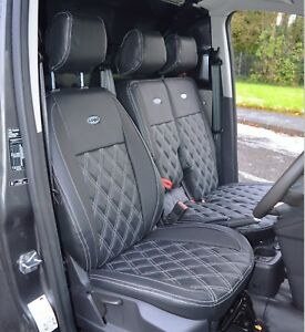 Ford Transit Custom INKA Front Tailored Waterproof Seat Covers Grey MY12 onwards