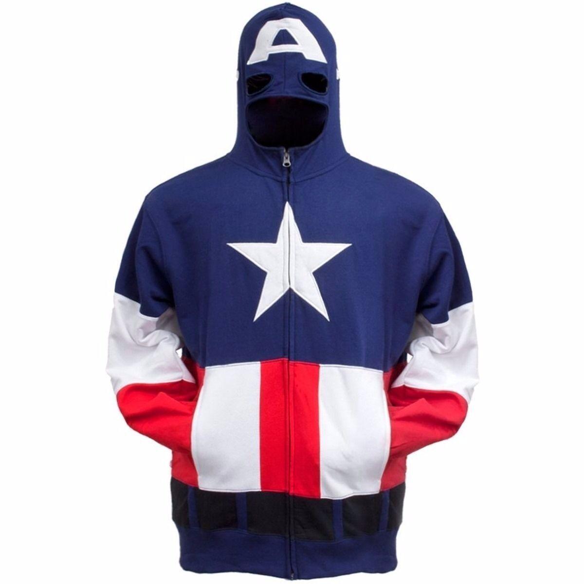 Captain America Costume Fleece Marvel Comics Adult Fleece Hoodie