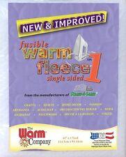 "Fusible Warm Fleece 1 - 45"" x 1 Yard (114cm x 91cm) - Warm Company Soft & New"
