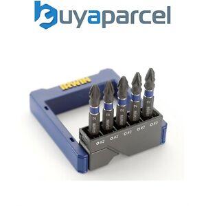 IRWIN 5 Pack High Torque Impact Drill Driver Screwdriver Bits 50mm PZ2