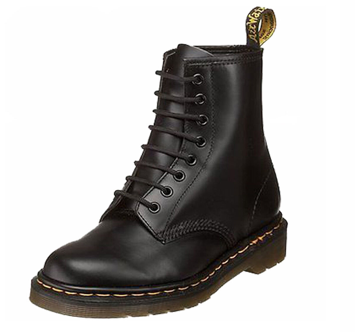 Dr. Martens 1460 Black Leather 8 Eye Classic Smooth Leather Black Boots with Air Wair Soleie a2dc4c