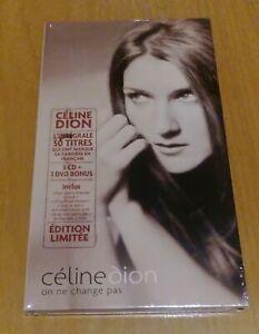 CELINE-DION-on-ne-change-pas-BOX-LIMITED-EDITION-3CD-DVD-BRAND-NEW-SEALED