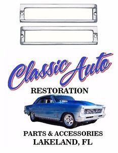 1962-1964 Chevy II Nova Headlight Bezels Pair