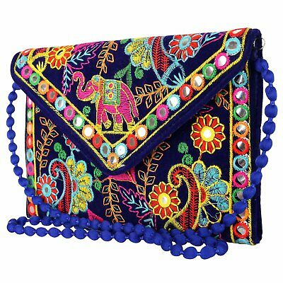 Craft Trade Embroidered Clutch Purse Wallet Handmade Rajasthani Designer Handbag For Women//Girls