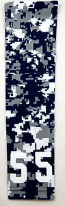 Custom Number ADULT SMALL Sports Arm Sleeve DIGITAL CAMO NAVY BLUE GRAY WHITE
