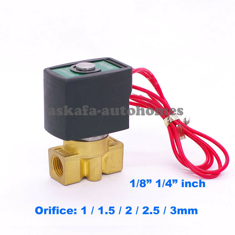"""N//C 220V AC  G1//8/"""" Electric Solenoid Valve Magnetic Water Air Fuels Gas 4V110-06"""