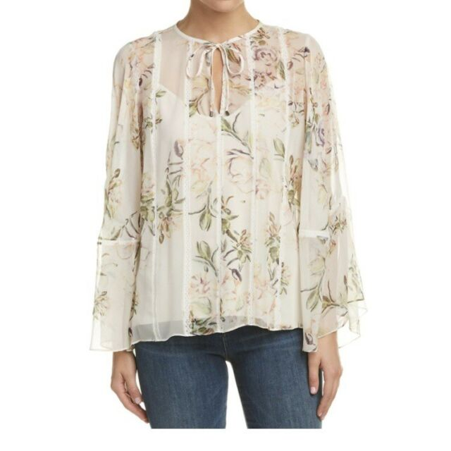 172b6dbec9f52 NWT Haute Hippie Winds Of Change Silk Blouse Large