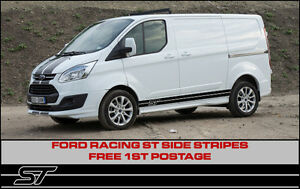 ford transit custom st side stripes sport racing connect focus style ebay. Black Bedroom Furniture Sets. Home Design Ideas