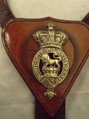 Superb English Leather Cavalry Military Horse Breastplate.