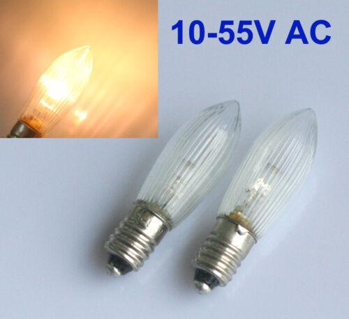 10x E10 LED-Ersatzlampen Glühbirnen Topkerze für Lichterkette 0.2W Deutsche Post