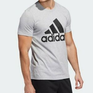 Details about Adidas Men's Badge of Sport Gray Logo T-Shirt Size Large NWT