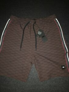 2a8221a6c9 Kith Unreleased Tilden Swim Trunk All Over Box Logo Brown Shorts ...