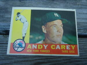 Details About 1960 Topps 196 Andy Carey New York Yankees Baseball Card
