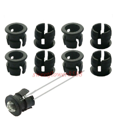 100pcs 3mm Black Plastic LED Clip Holder Case Cup Mounting New Free Shipping