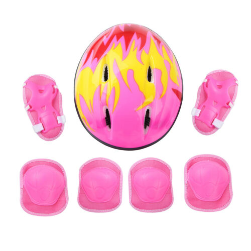 Kids Protective Gear Set Helmet Knee Wrist Guard Elbow Pad for Outdoor Sports US