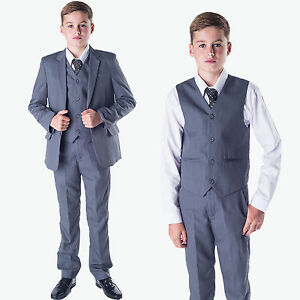 Boys-suits-boys-complet-gris-garcons-mariage-costume-page-garcon-parti-prom-formelle-5-piece