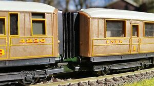 12-x-00-Gauge-Hornby-Railroad-Gresley-Corridor-Connector-Bellows-4mm-BR-LNER