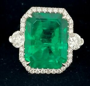 15-25-Ct-Green-Doublet-Emerald-Cocktail-Big-Gemstone-Ring-18K-White-Gold-Over
