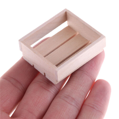 Dollhouse Miniature 1//12 Toy Vintage Wooden Basket Box Kitchen Accessories B$