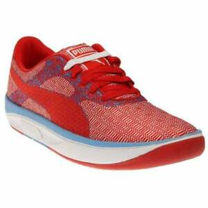Puma-GV-500-Woven-Mesh-Sneakers-Casual-Red-Mens