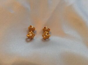 Image Is Loading New Pure 24k Solid Yellow Gold Flower Earring