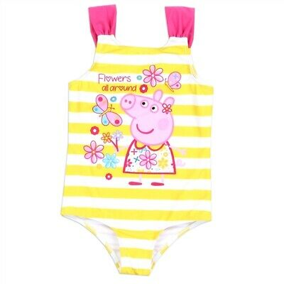 3T PeppaPig Peppa Pig Toddler Girls Peppa Pig Swimsuit Bathing Suit Cover upwith UPF 50+UV Protection