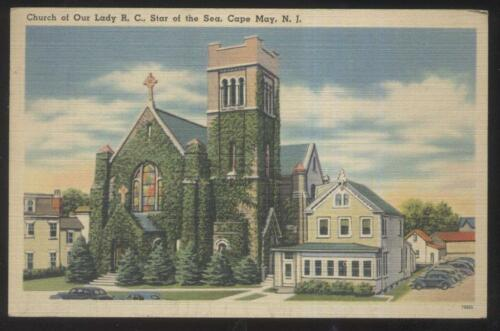 POSTCARD CAPE MAY NJNEW JERSEY CHURCH OF OUR LADY STAR OF THE SEA 1930'S