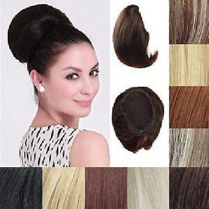 Haarteil-Hepburn-Dutt-Chignon-Braut-Hochsteckfrisur-Haarverlangerung-25-FARBEN