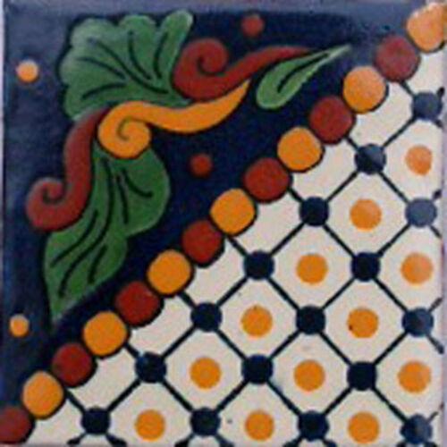 MEXICAN TILE SAMPLE WALL FLOOR TALAVERA MEXICO CERAMIC HANDMADE POTTERY C#062