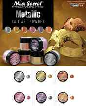Mia Secret Acrylic Powder Metallic Collection 6 pc Nail art * Authentic Brand *