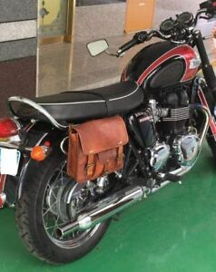 Brown Leather Bag Panniers Messenger
