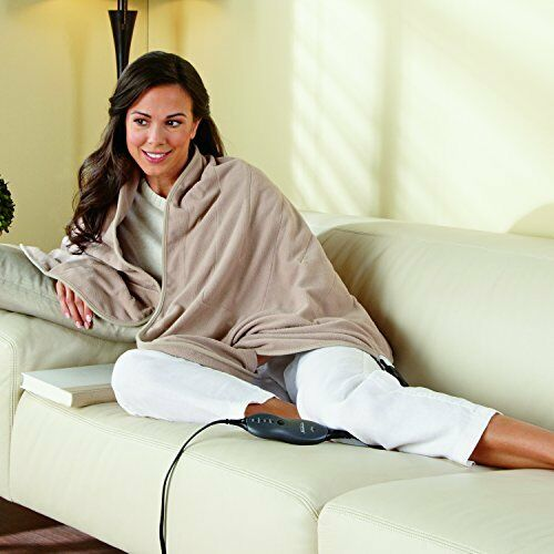 Cozy Electric Heated Fleece Warming Lap Blanket Personal Soft Throw For Winter